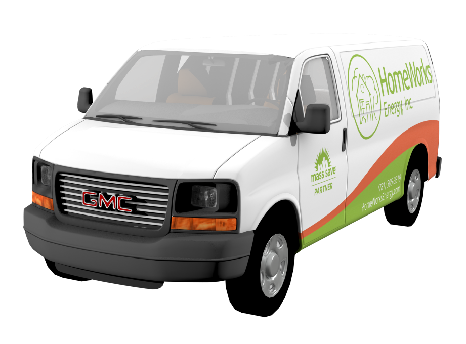 We designed the Boston based HomeWorks vehicle wraps