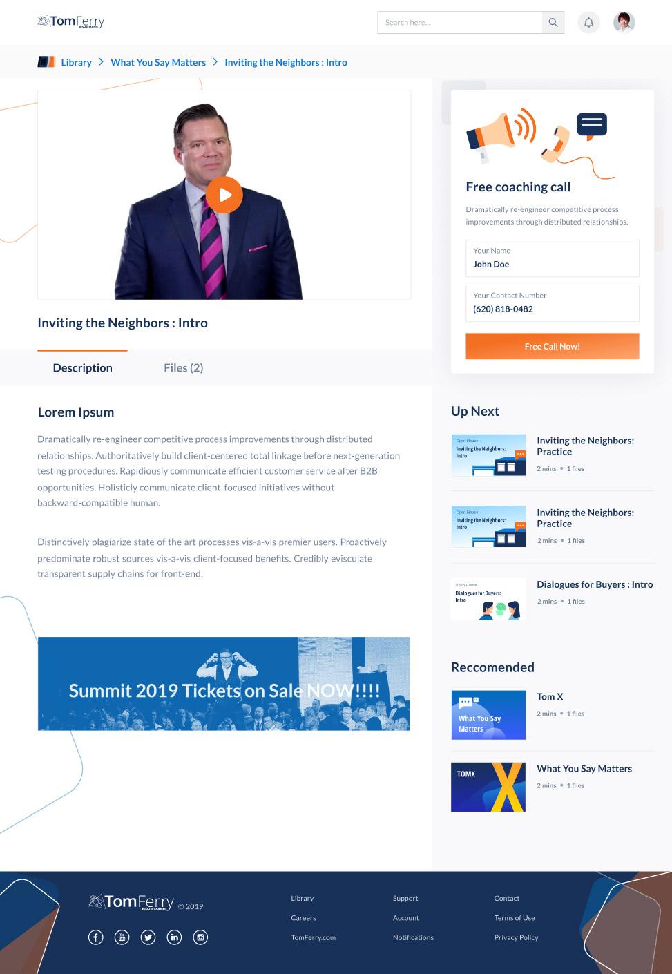 Website design ecommerce setup, on desktop